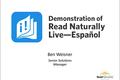 Video: Demonstration of Read Naturally Live—Español
