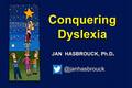 Webinar Video: Dr. Jan Hasbrouck: Conquering dyslexia