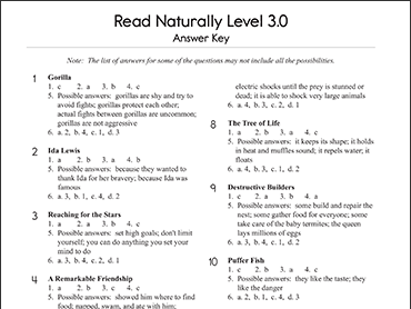 Read Naturally 174 Encore Read Naturally Inc