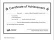 Encore Certificate of Achievement