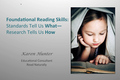 Webinar Video: Foundational reading skills
