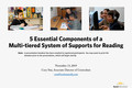 Webinar Video: Components of a Multi-tiered System of Supports for reading