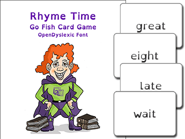 rhyme time card game read naturally inc