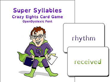 Super Syllables Card Game
