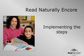 Webinar Video: Read Naturally Encore: Implementing the steps