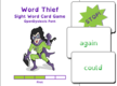 Word Thief First Level Card Game
