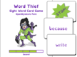 Word Thief Second Level Card Game