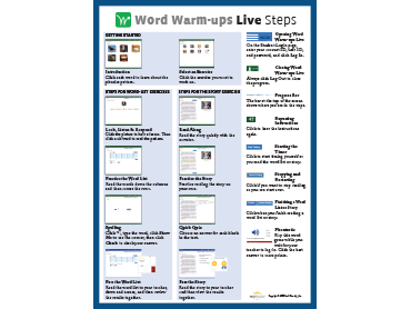 Word Warm-ups-Live Steps Poster
