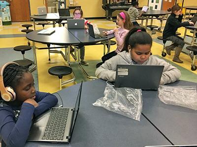 Hannah Elementary reading lab