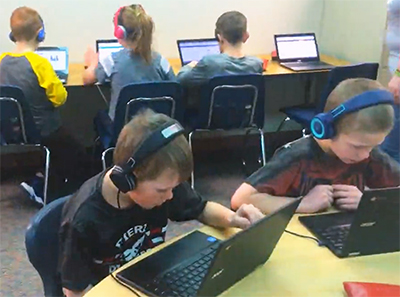 Pioneer Elementary reading lab