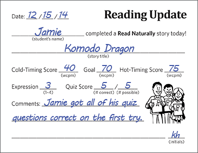 Reading Update Form