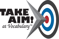 Take Aim at Vocabulary logo