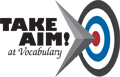 Take Aim! at Vocabulary Logo